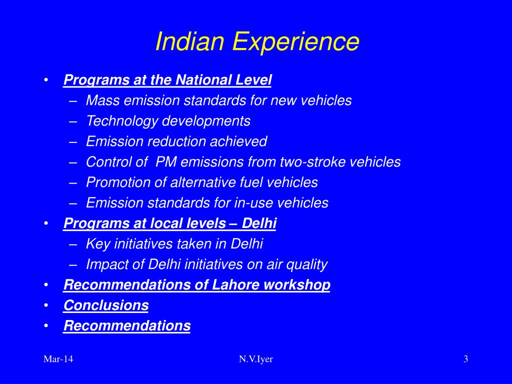 Indian Experience