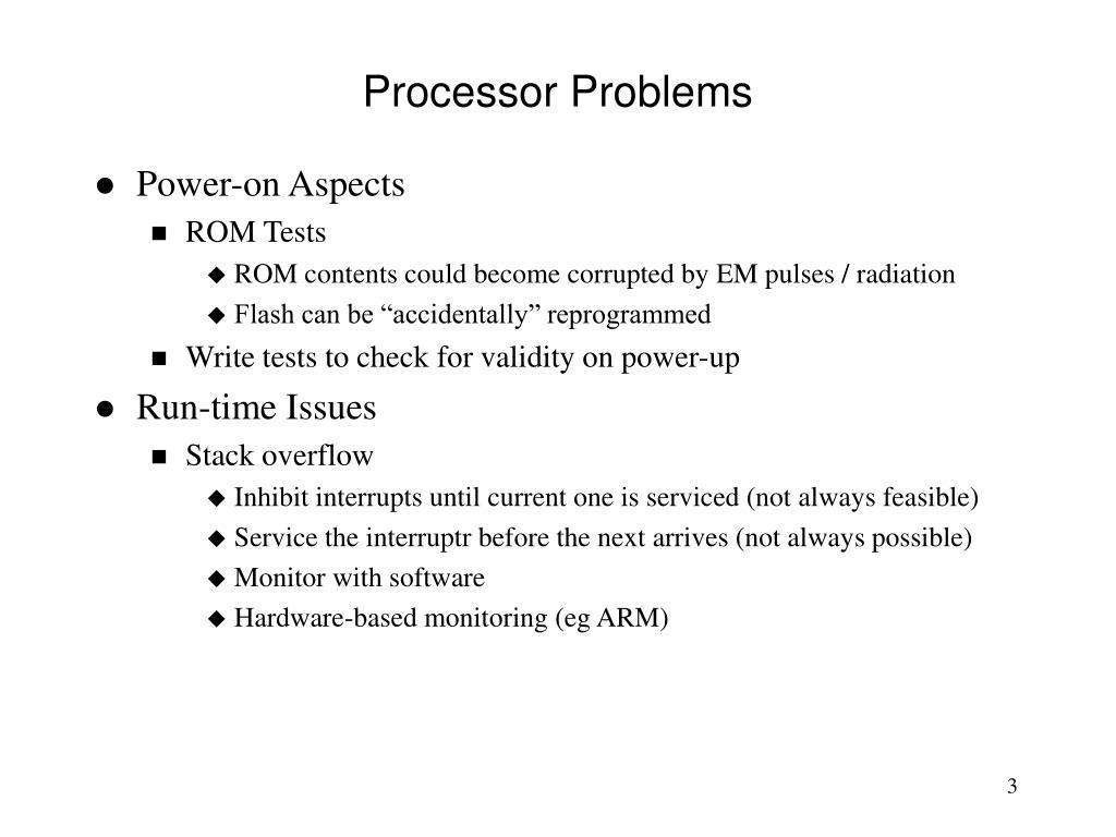 Processor Problems