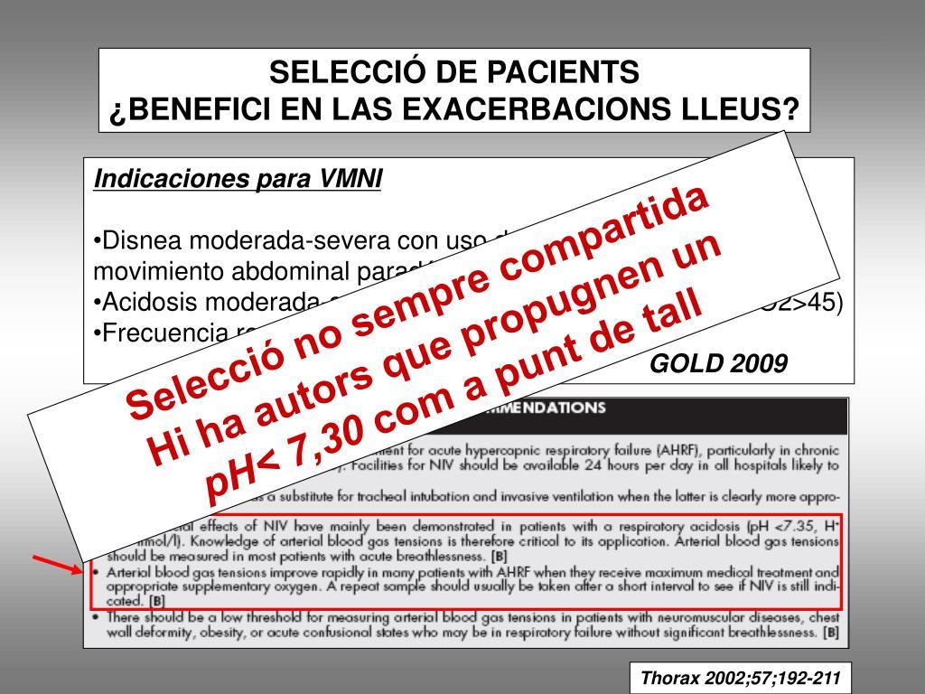 SELECCIÓ DE PACIENTS