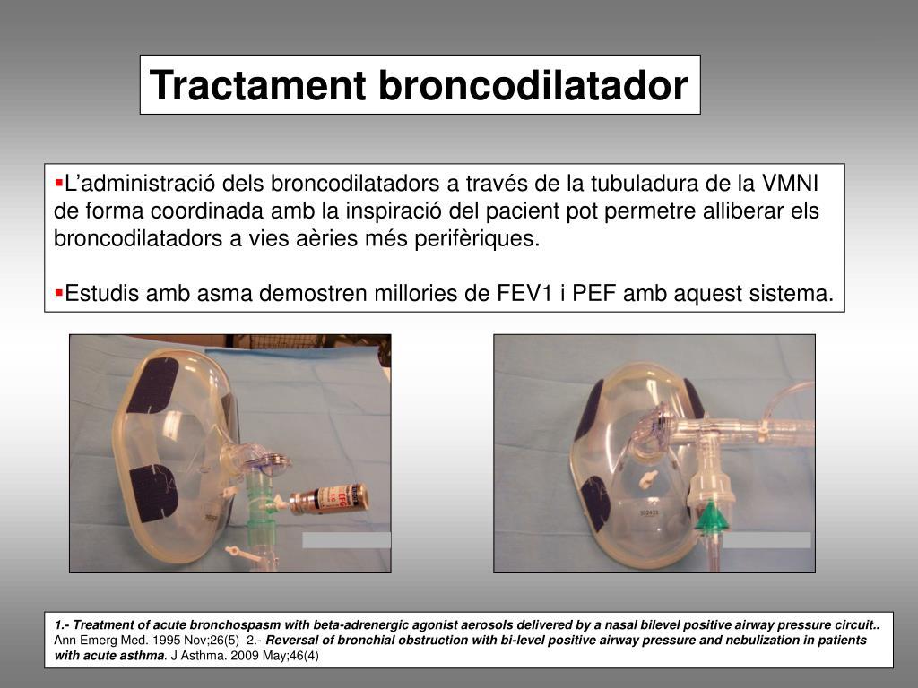 Tractament broncodilatador