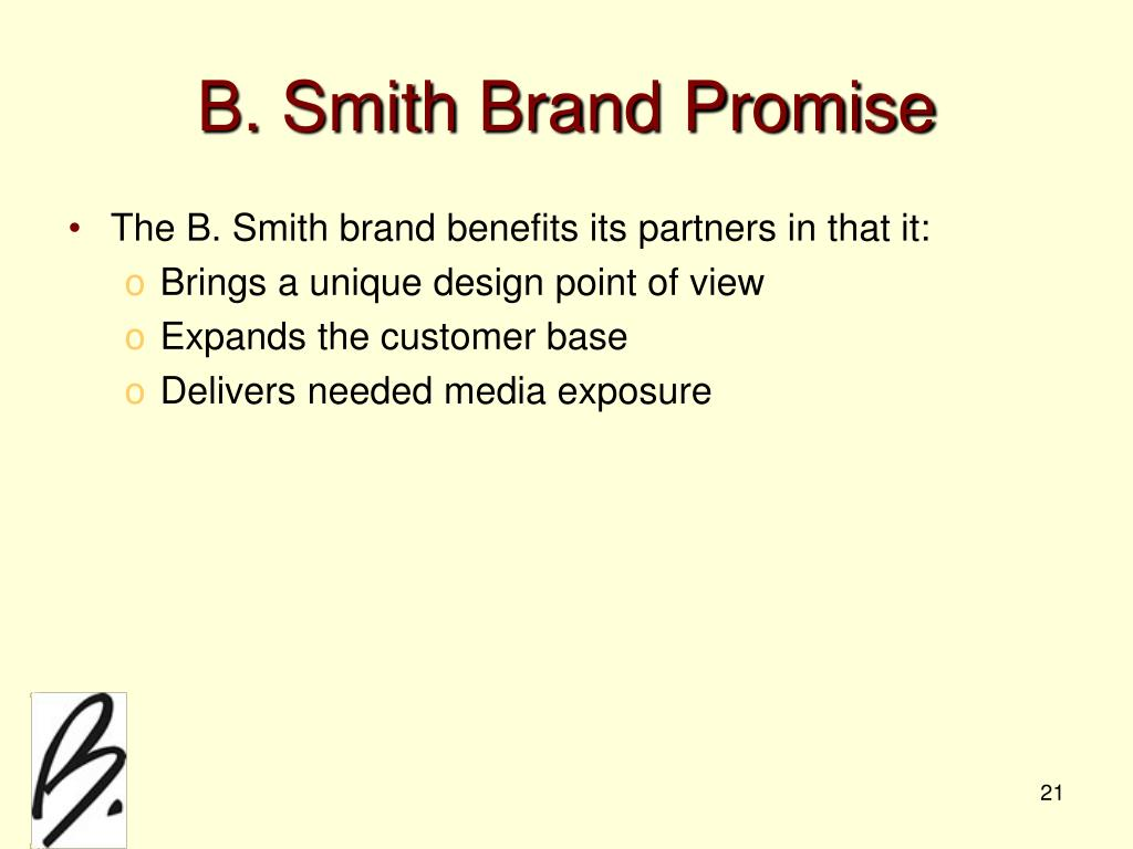 B. Smith Brand Promise