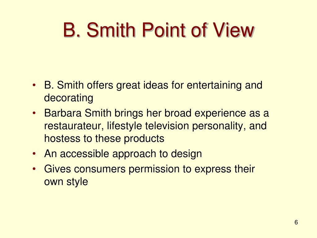 B. Smith Point of View