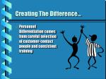 creating the difference13