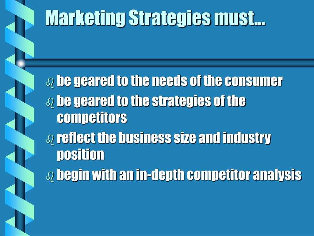 Marketing Strategies must…