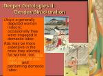 deeper ontologies ii gender structuration