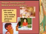 deeper ontologies iv media and surveillance97