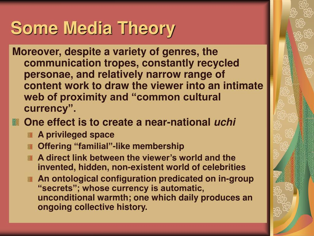 Some Media Theory