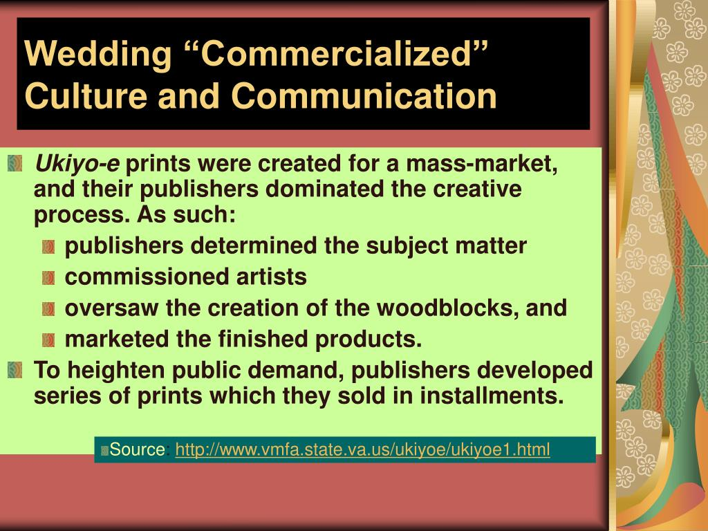 """Wedding """"Commercialized"""" Culture and Communication"""