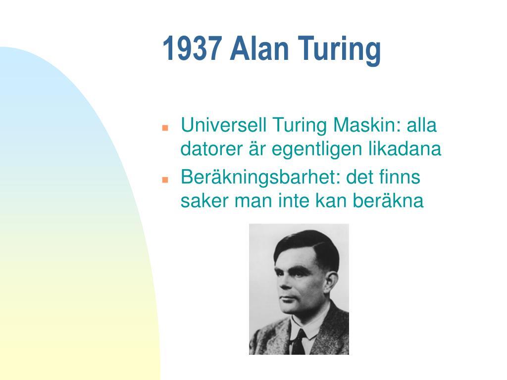 1937 Alan Turing
