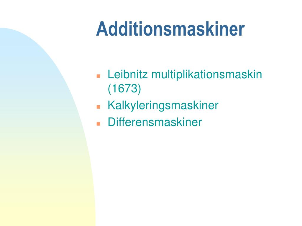 Additionsmaskiner
