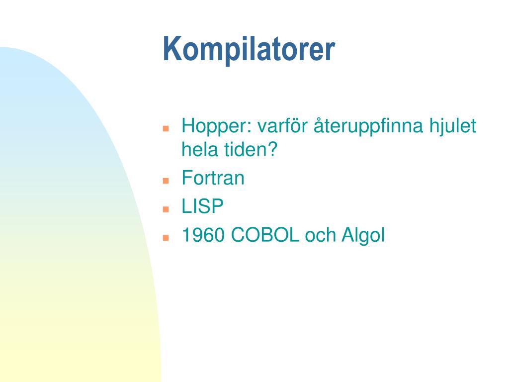 Kompilatorer