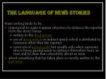 the language of news stories