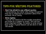 tips for writing features13
