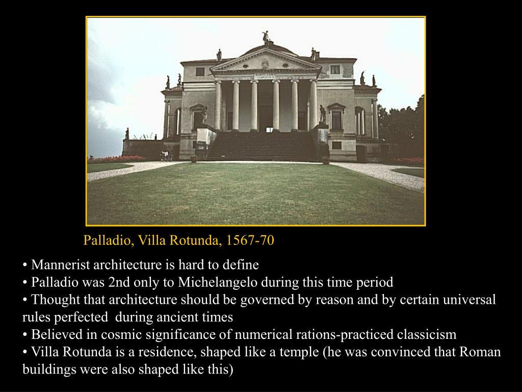 Palladio, Villa Rotunda, 1567-70