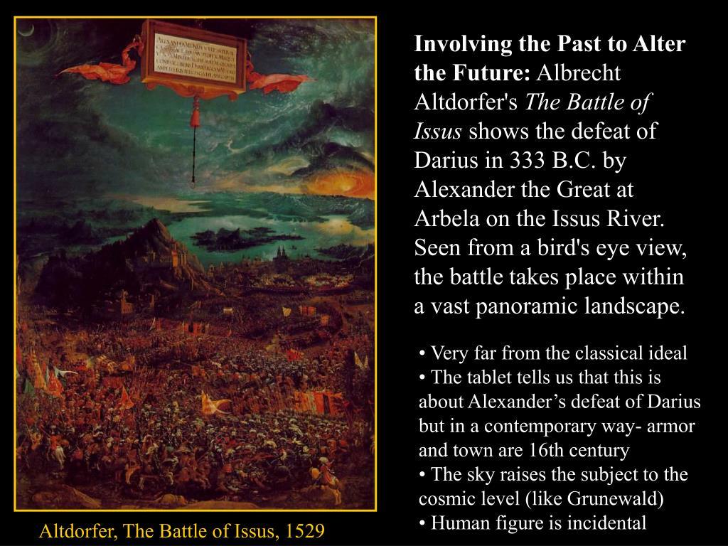 Involving the Past to Alter the Future: