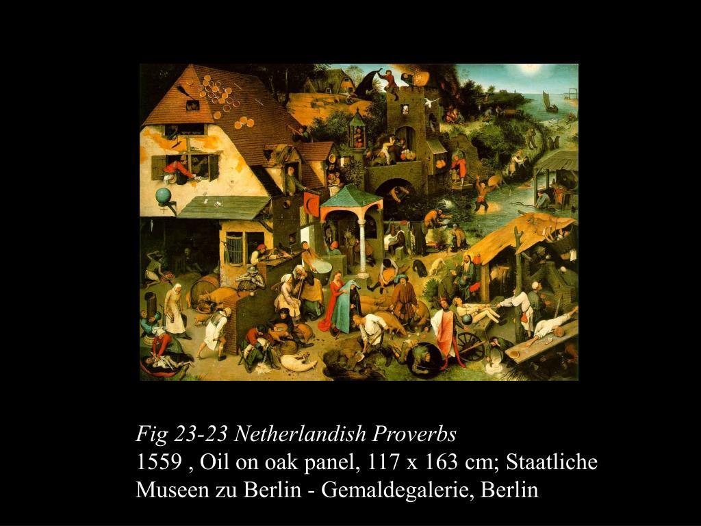 Fig 23-23 Netherlandish Proverbs
