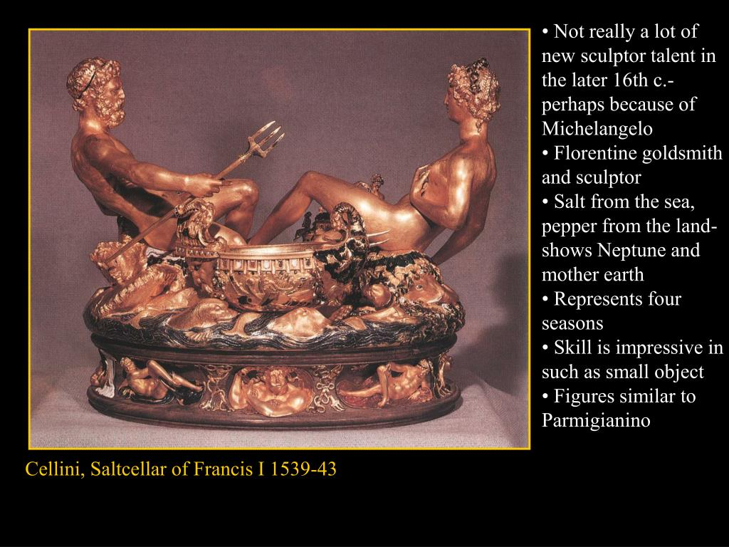 • Not really a lot of new sculptor talent in the later 16th c.- perhaps because of Michelangelo