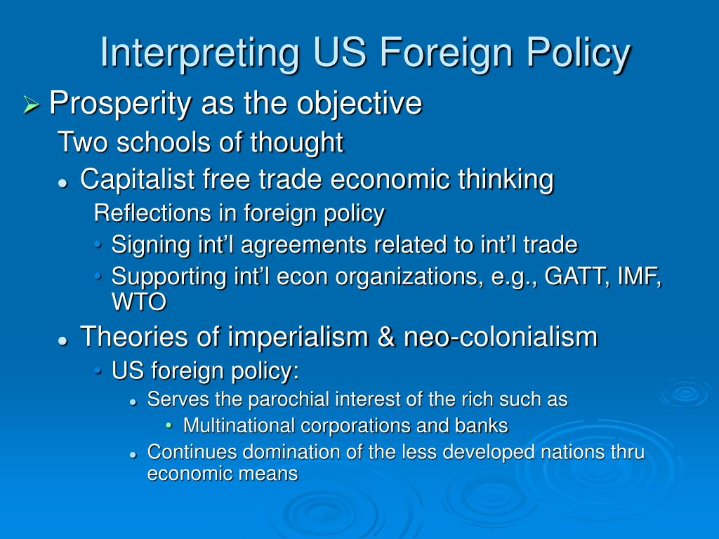 Interpreting US Foreign Policy