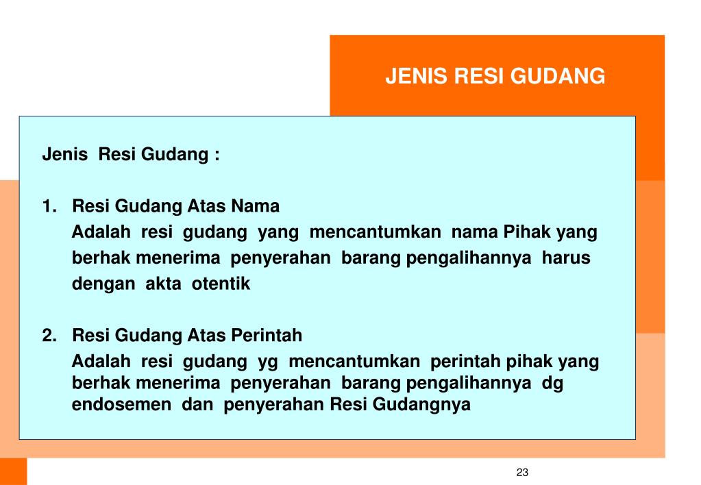 JENIS RESI GUDANG