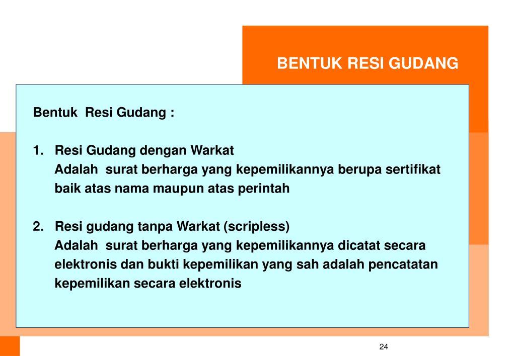 BENTUK RESI GUDANG