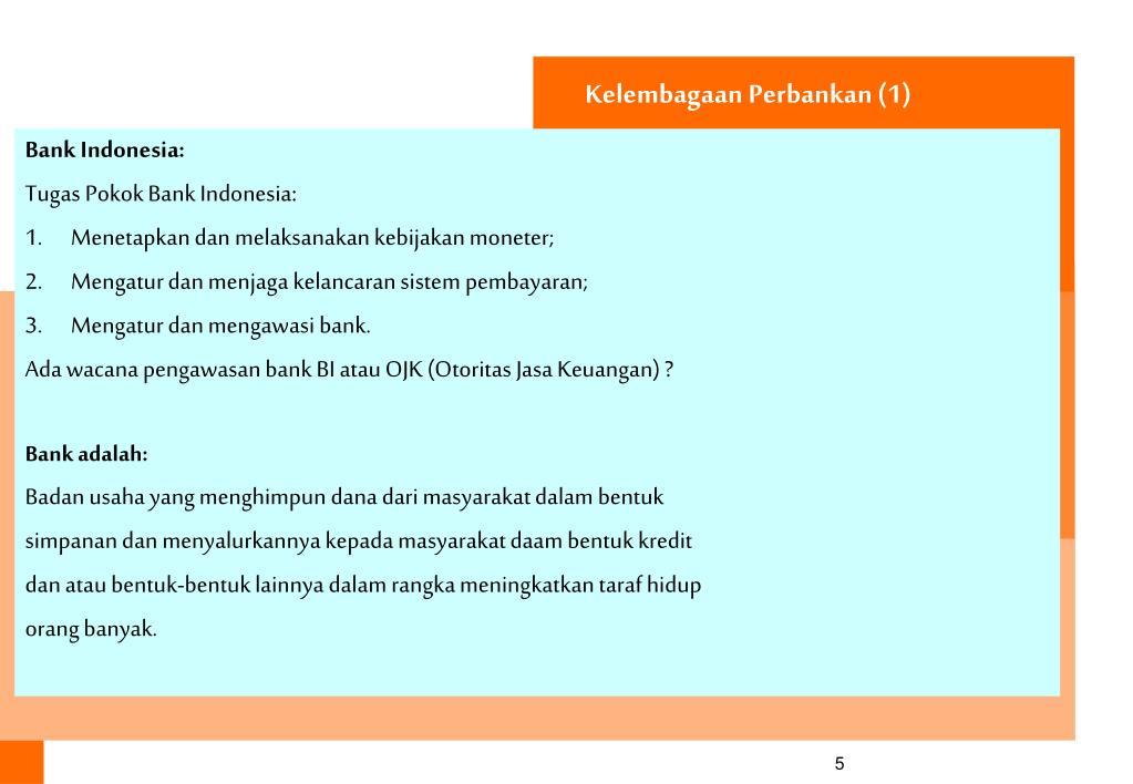 Kelembagaan Perbankan (1)