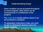 understanding scope
