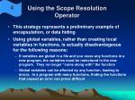 using the scope resolution operator10
