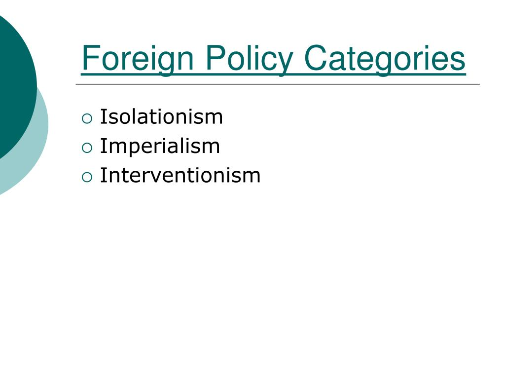 Foreign Policy Categories