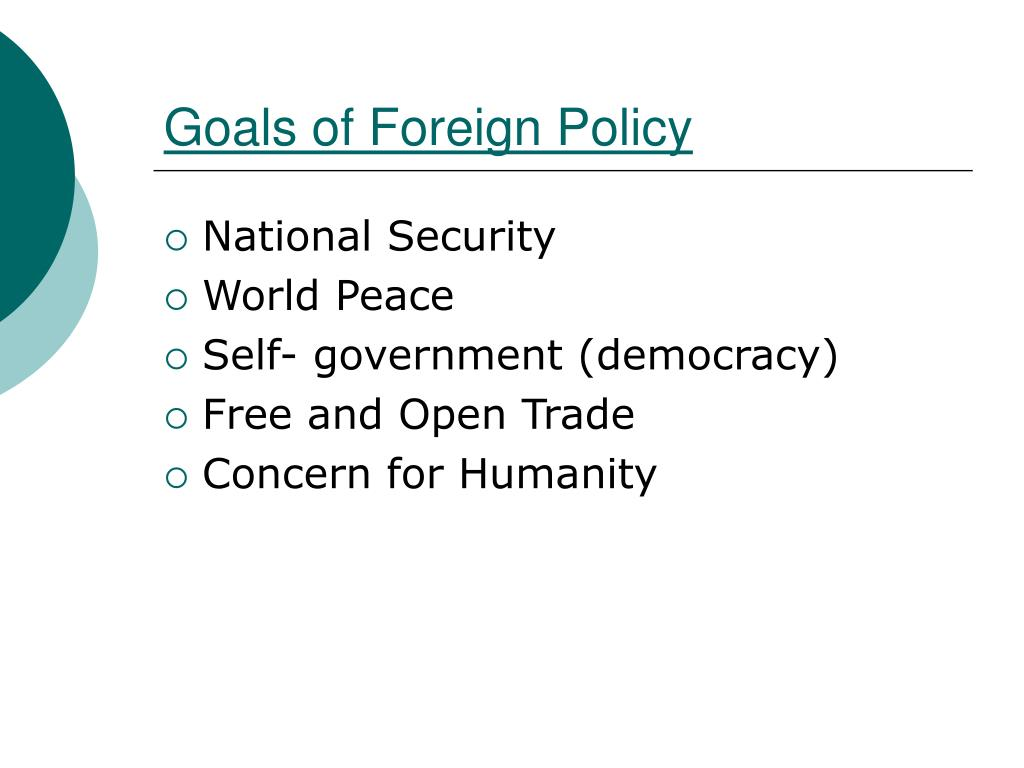 Goals of Foreign Policy