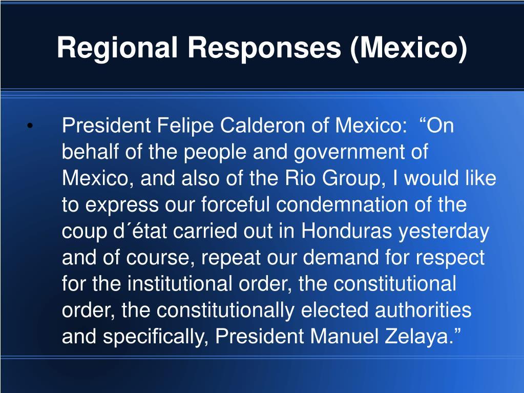 Regional Responses (Mexico)
