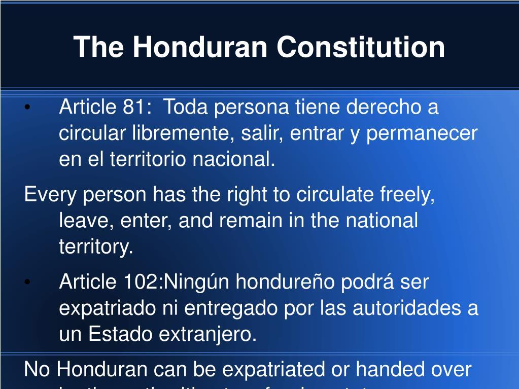 The Honduran Constitution