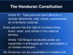 the honduran constitution