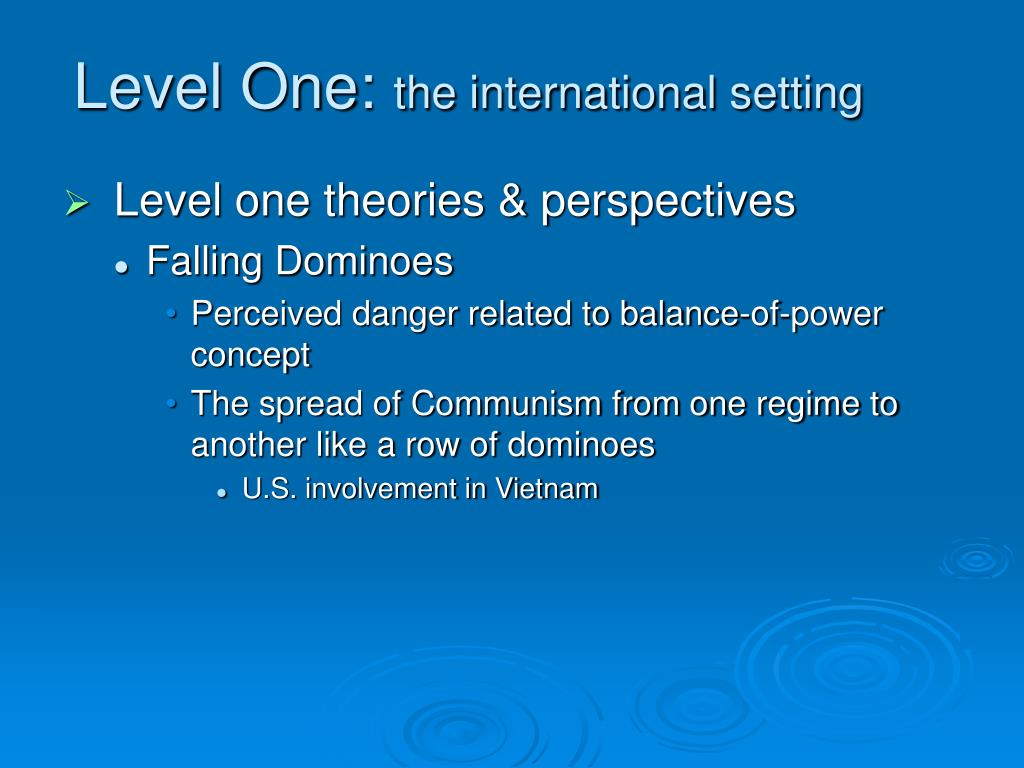 Level One:
