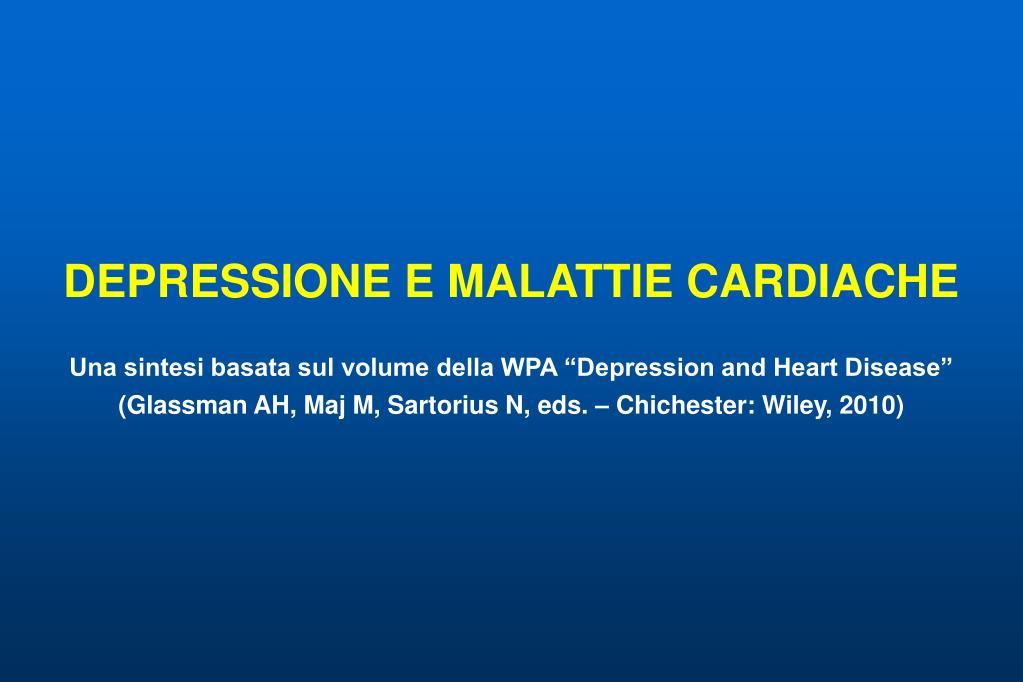 DEPRESSIONE E MALATTIE CARDIACHE