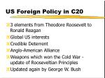 us foreign policy in c20