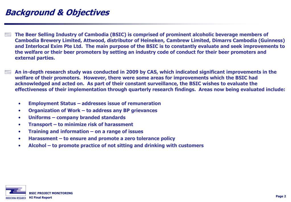Background & Objectives