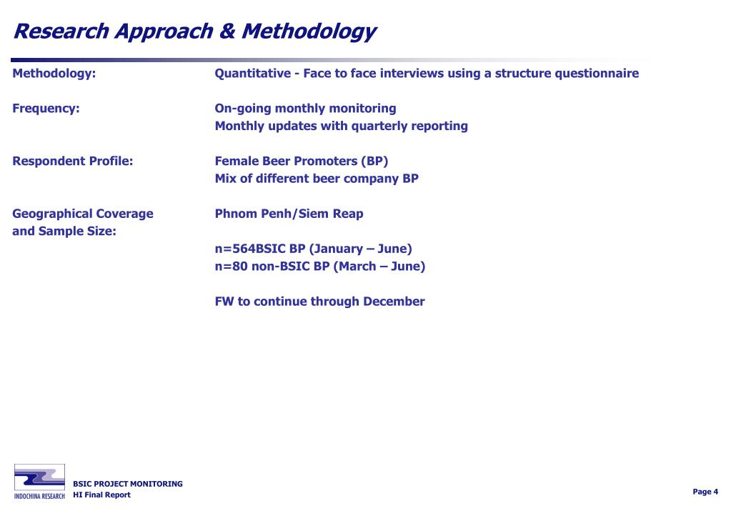 Research Approach & Methodology