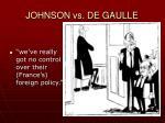 johnson vs de gaulle