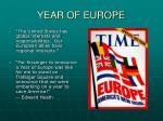 year of europe