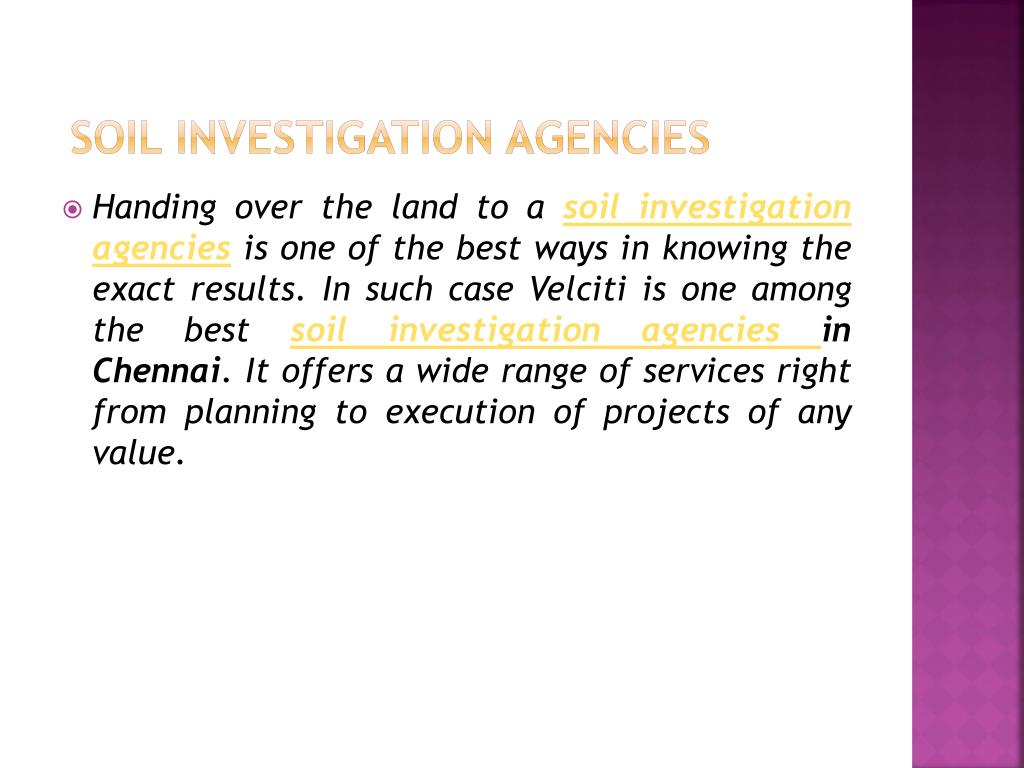 soil investigation agencies