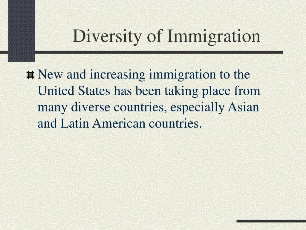 Diversity of Immigration