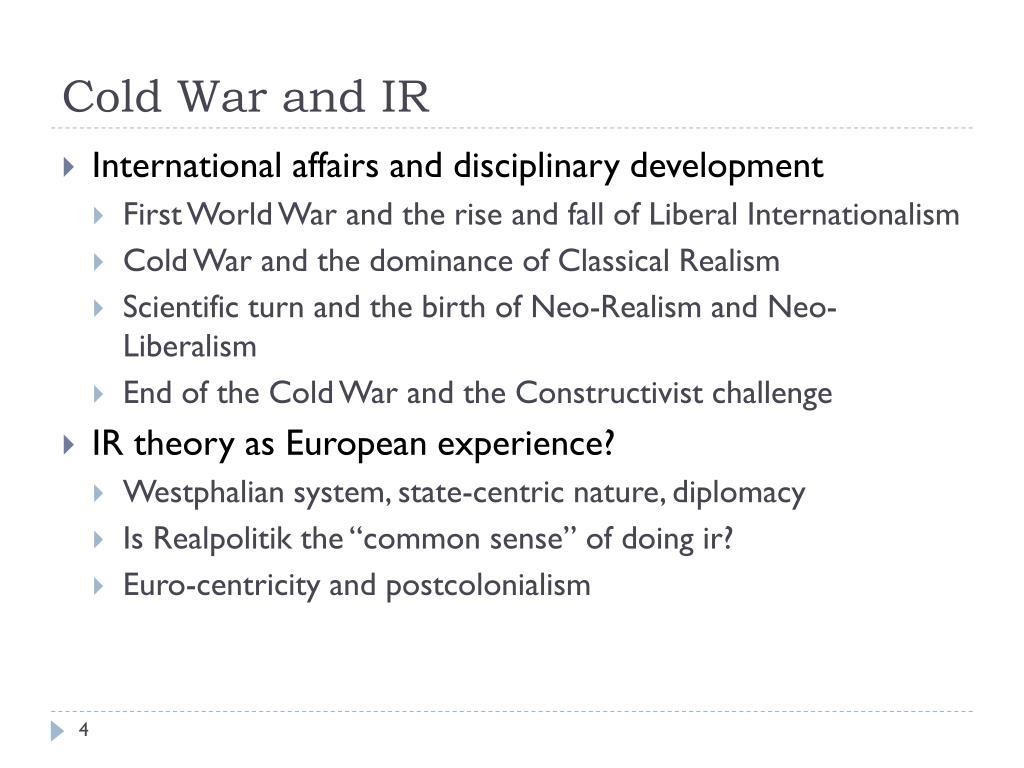 Cold War and IR