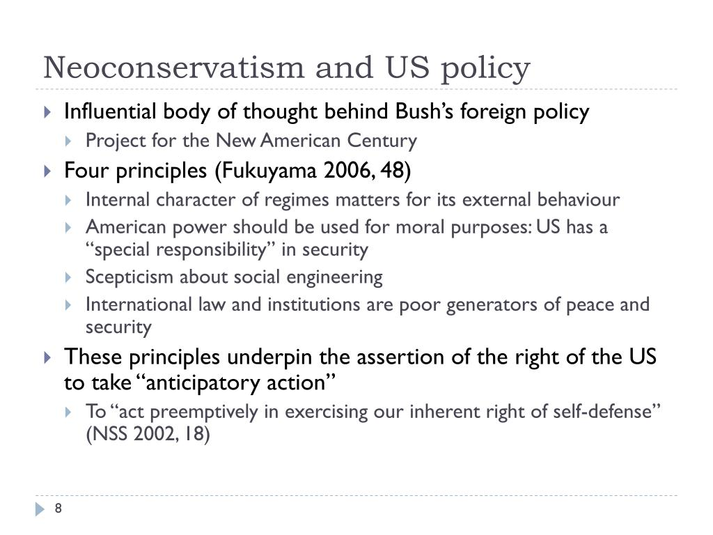 Neoconservatism and US policy