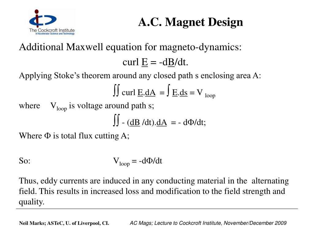 A.C. Magnet Design