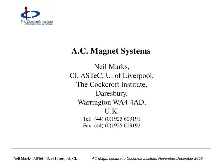 A c magnet systems l.jpg