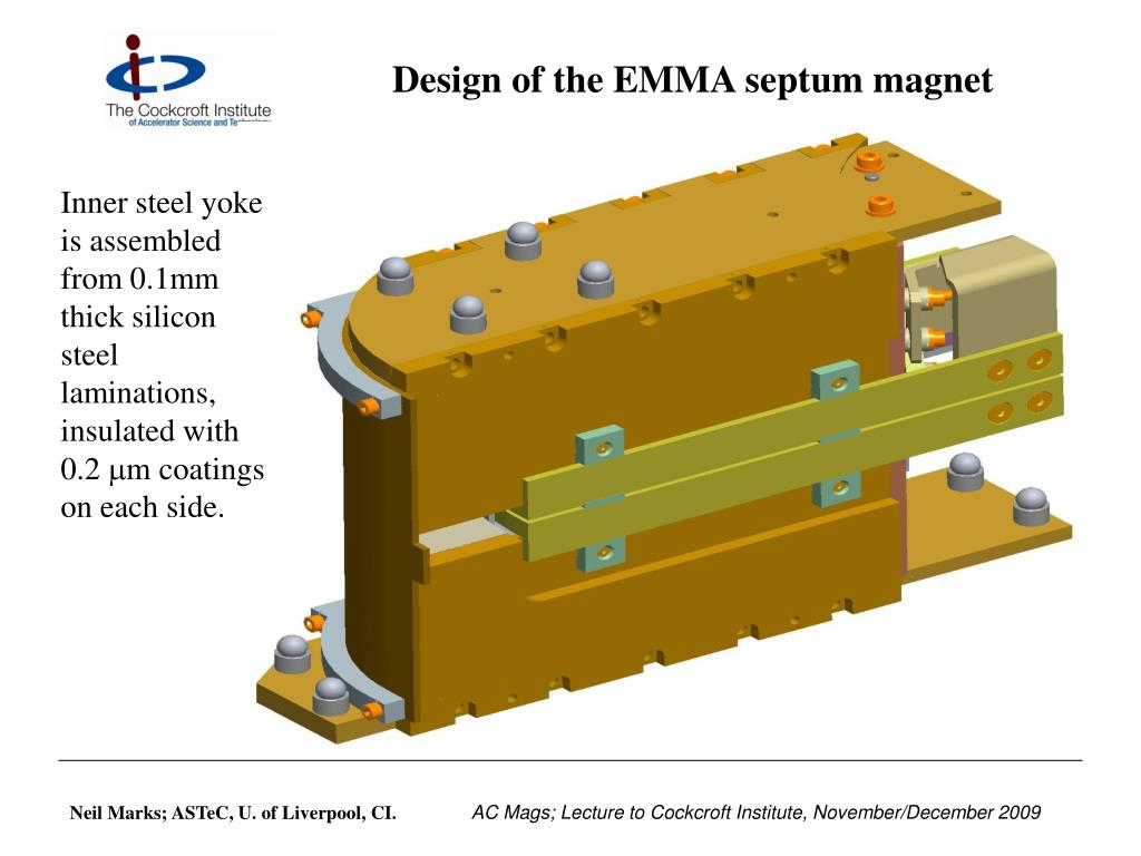 Design of the EMMA septum magnet