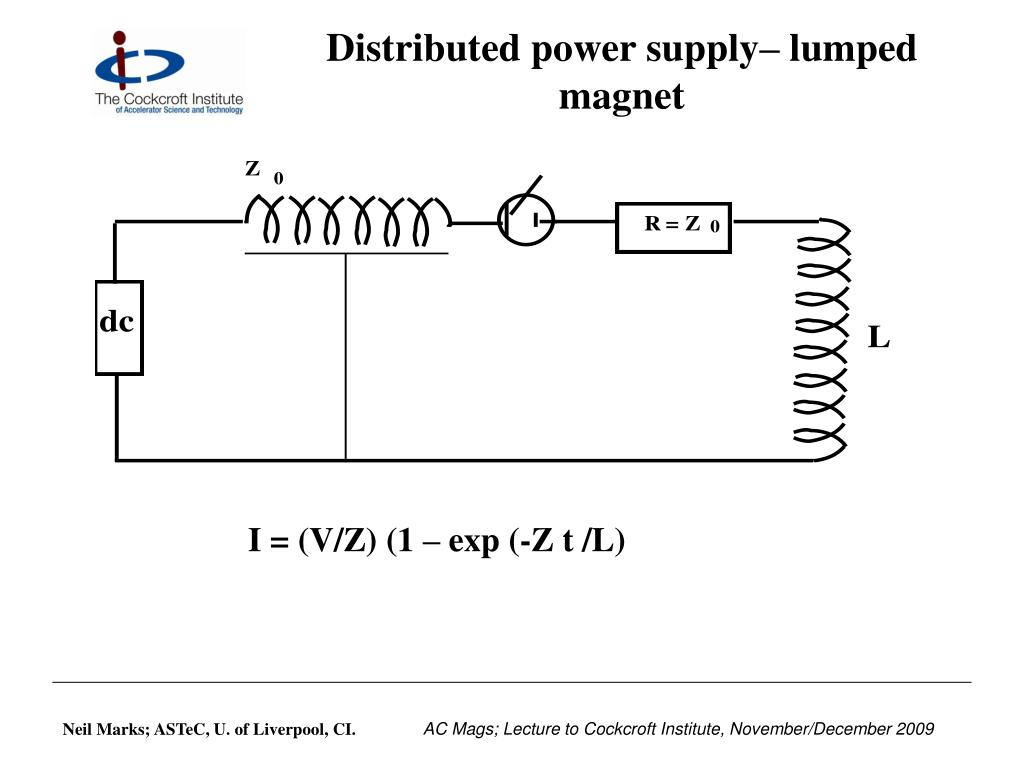 Distributed power supply– lumped magnet