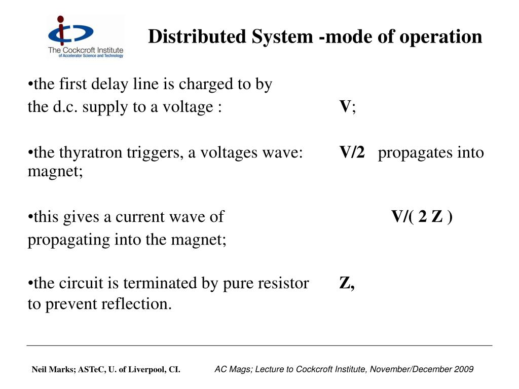 Distributed System -mode of operation