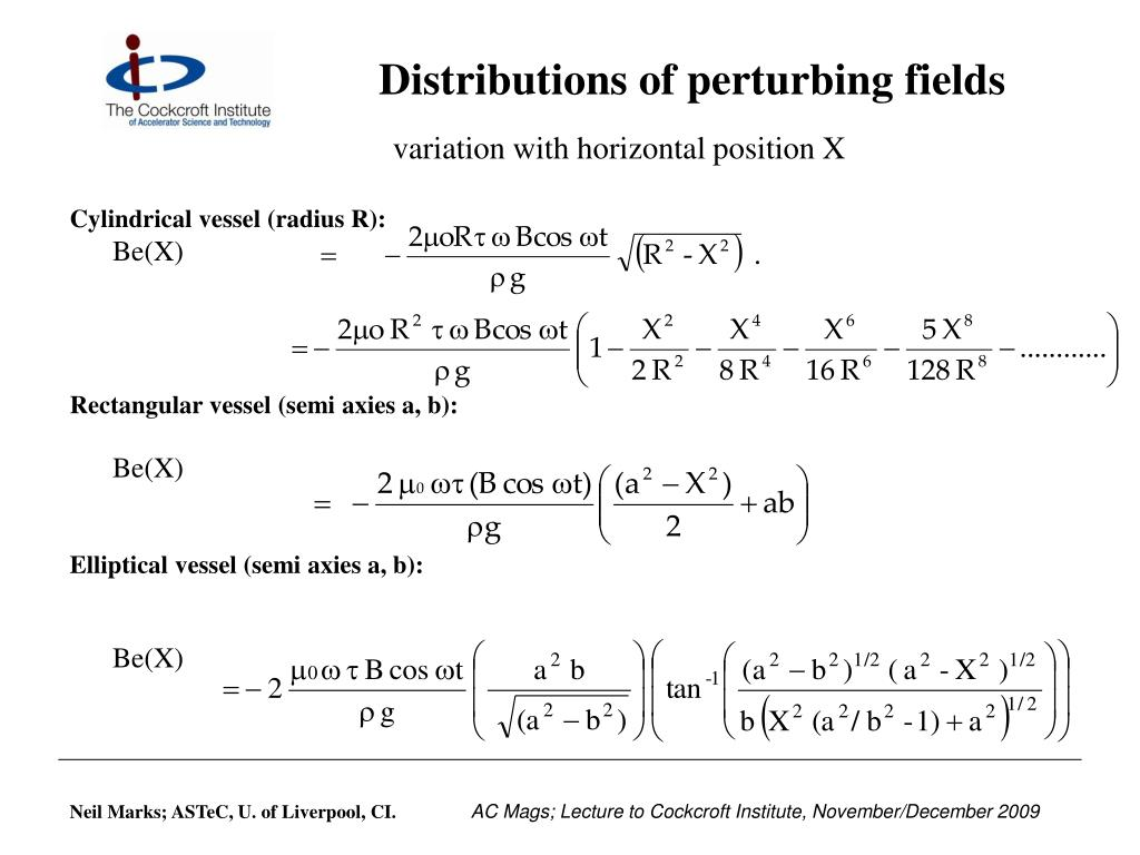 Distributions of perturbing fields