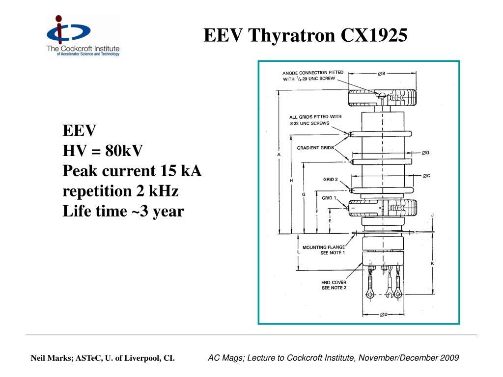 EEV Thyratron CX1925
